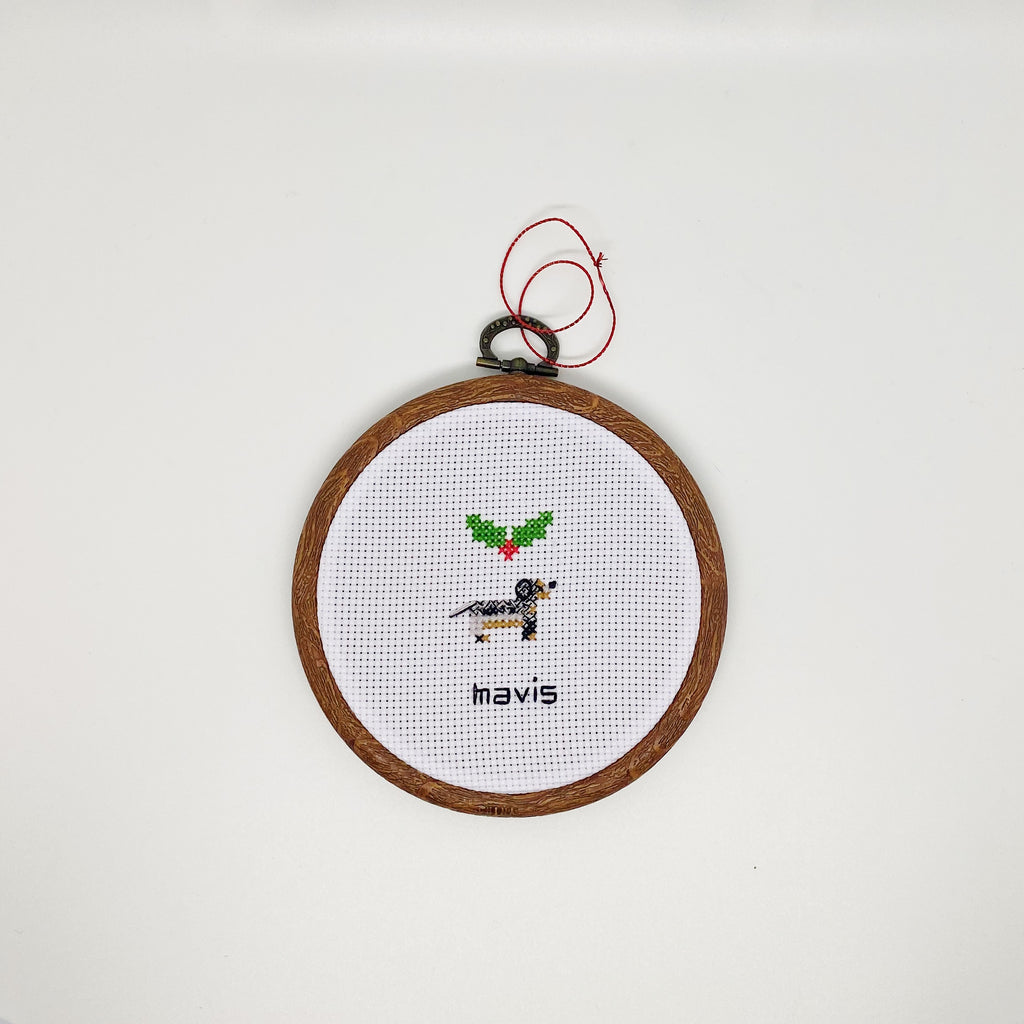 Custom Cross Stitch Pet Ornament