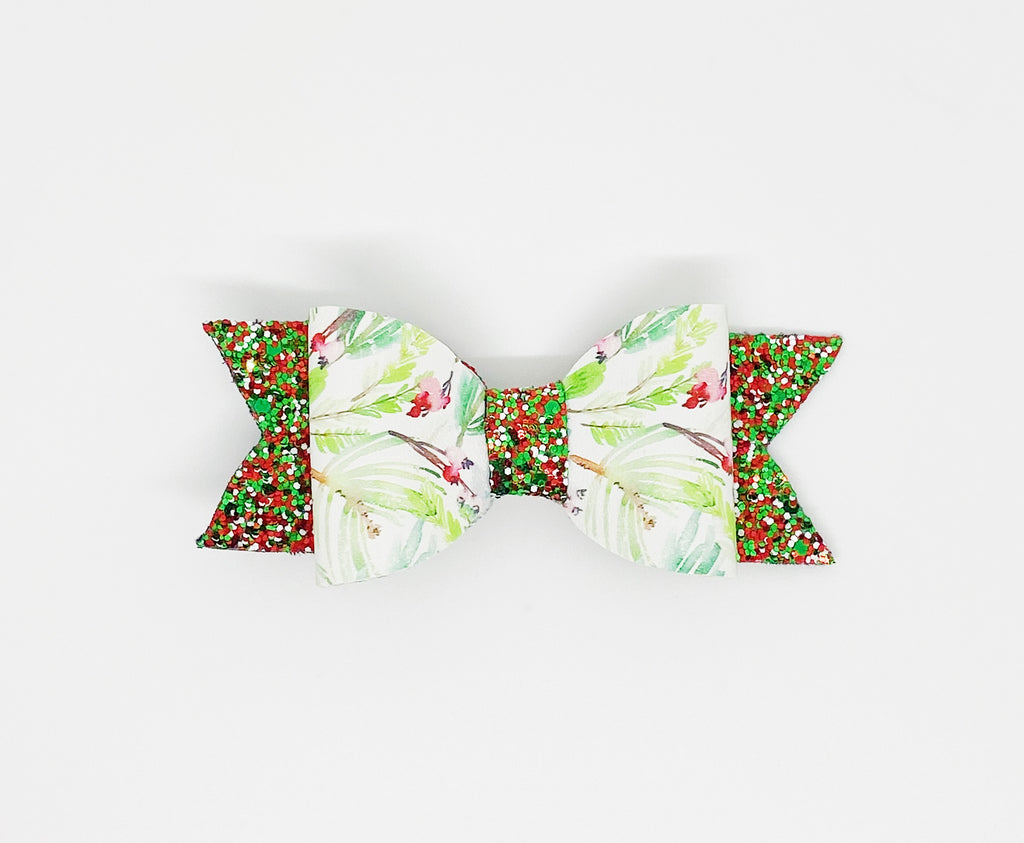 Sparkly Mistletoe Hair Bow or Collar Accessory