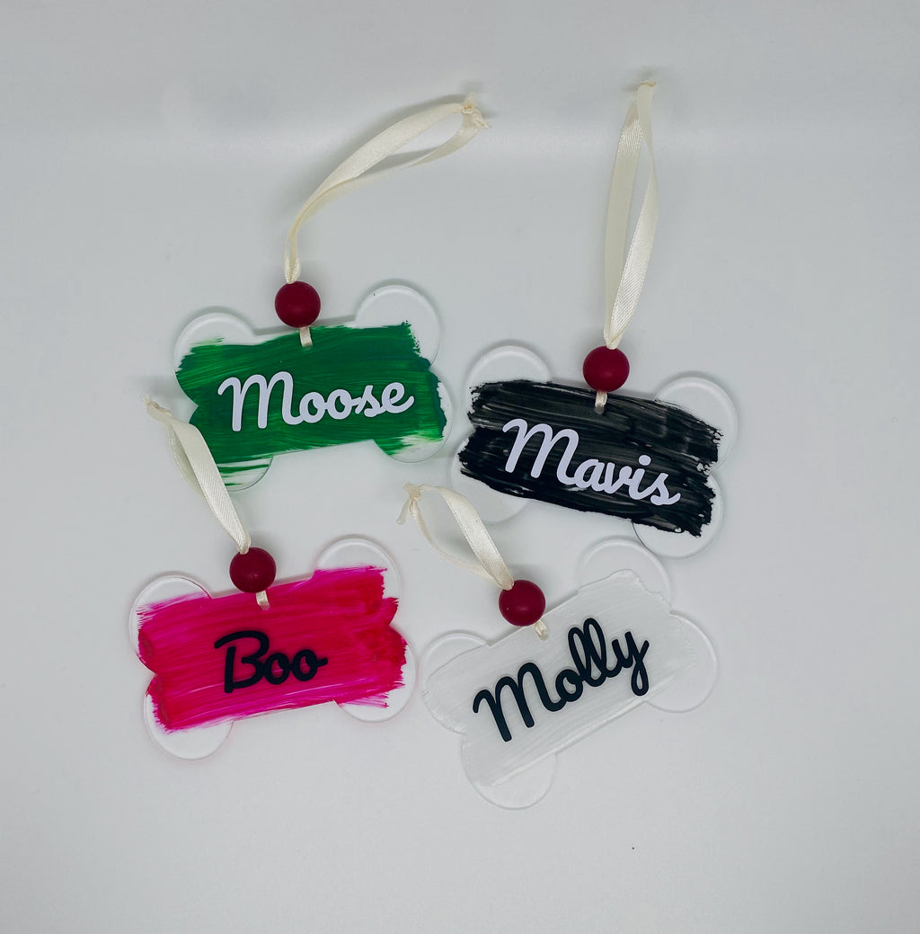 Custom Name Acrylic Bone Pet Ornament