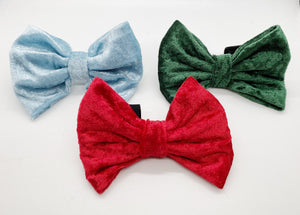 Red Crushed Velvet Bow Tie