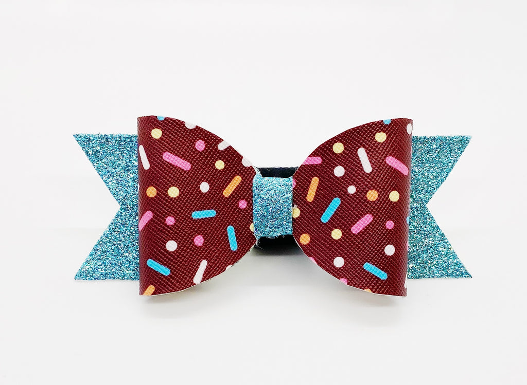 Birthday Sprinkles Hair Bow or Collar Accessory
