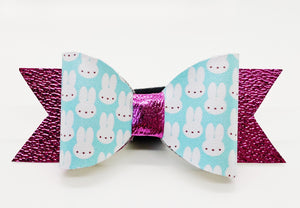Blue Easter Bunny Hair Bow or Collar Accessory