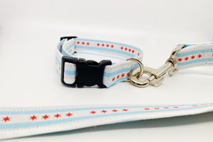 Chicago Flag Collar & Leash Set