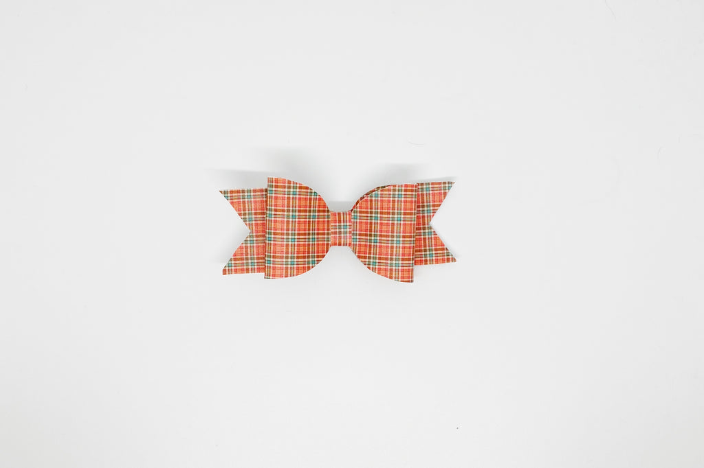 Fall Plaid Hair Bow or Collar Accessory