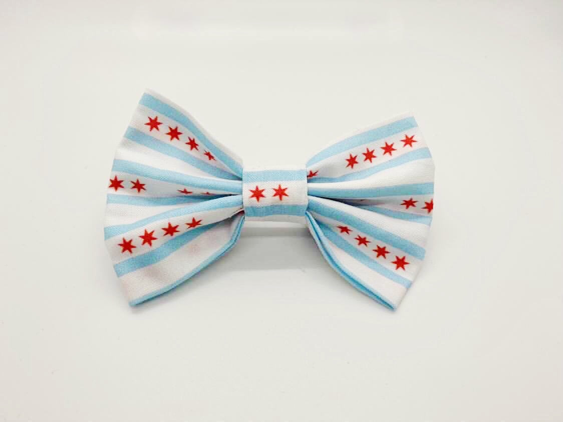Chicago Flag Bow Tie