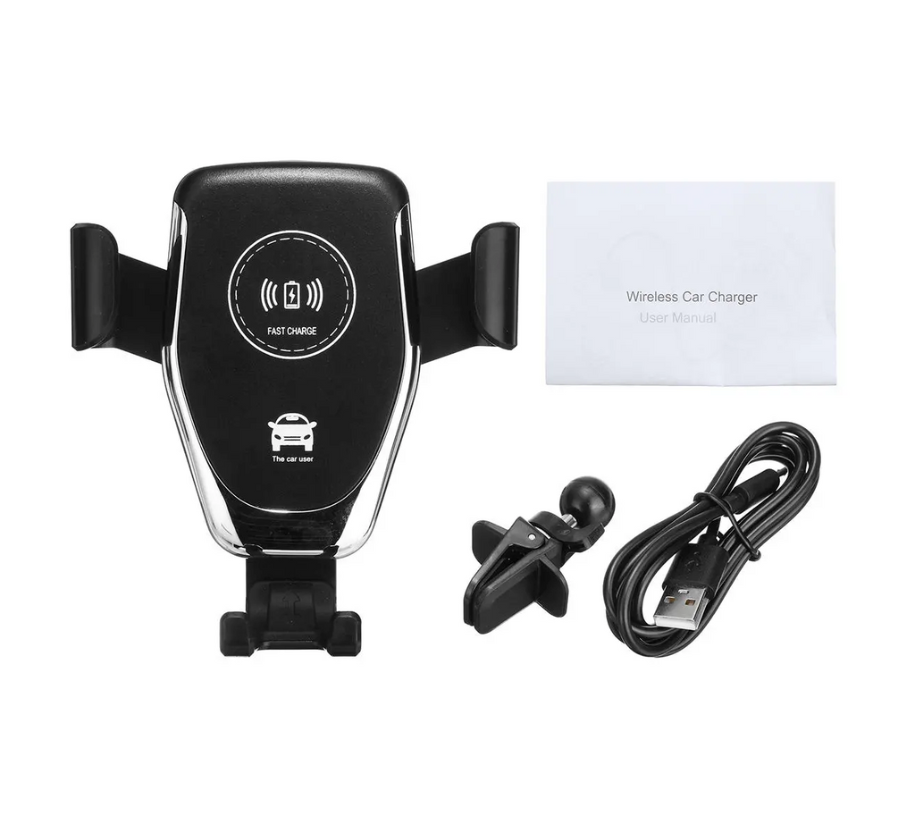 DashAuto™ Qi Wireless Fast Charge Auto Lock Car Mount for iPhone and Samsung