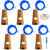 6 Pcs Cork Lights with Screwdriver, AFUNTA Bottle Lights Fairy String LED Lights, 30 Inches Copper Wire 15 LED Bulbs for Party Wedding Concert Festival Christmas Tree Decoration -Blue