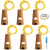 6 Pcs Cork Lights with Screwdriver, AFUNTA Bottle Lights Fairy String LED Lights, 78 Inches / 2 m Copper Wire 20 LED Bulbs for Party Wedding Concert Festival Christmas Tree Decoration-yellow