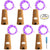 6 Pcs Cork Lights with Screwdriver, AFUNTA Bottle Lights Fairy String LED Lights, 30 Inches Copper Wire 15 LED Bulbs for Party Wedding Concert Festival Christmas Tree Decoration -Purple