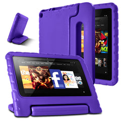 AFUNTA F i r e 7 2015 Case,Light Weight Shock Proof Convertible Handle Stand EVA Protective Kids Case for A m a z o n F i r e 7 inch Display Tablet (5th Generation - 2015 Release Only)-Purple