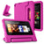 AFUNTA F i r e 7 2015 Case,Light Weight Shock Proof Convertible Handle Stand EVA Protective Kids Case for F i r e 7 inch Display Tablet (5th Generation - 2015 Release Only)-Rose Red