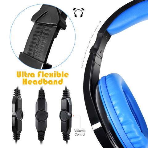 AFUNTA Gaming Headset for PS4 Xbox360 PC iPhone Smart Phone