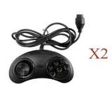 AFUNTA 6-Button Controller for Classic Sega Genesis (2 pcs)