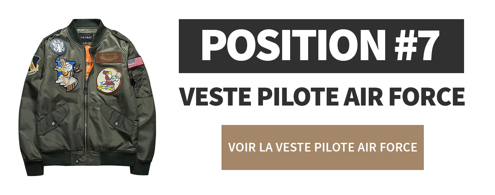 Veste Pilote de l'air force