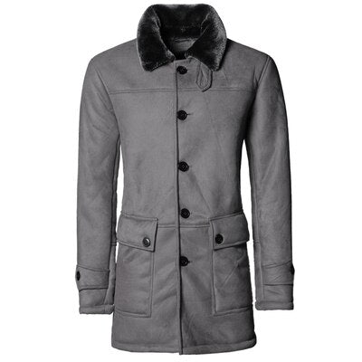 Manteau Aviateur<br/> Gris Long
