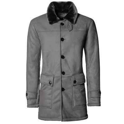 Manteau Aviateur Gris Long