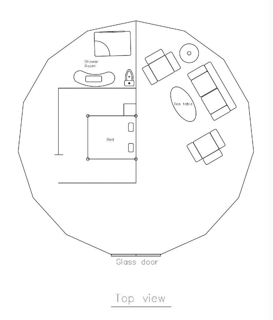 large dome tent floor plan