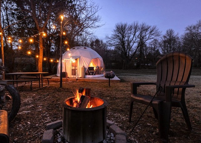 fire dome tent geodesic perfect location