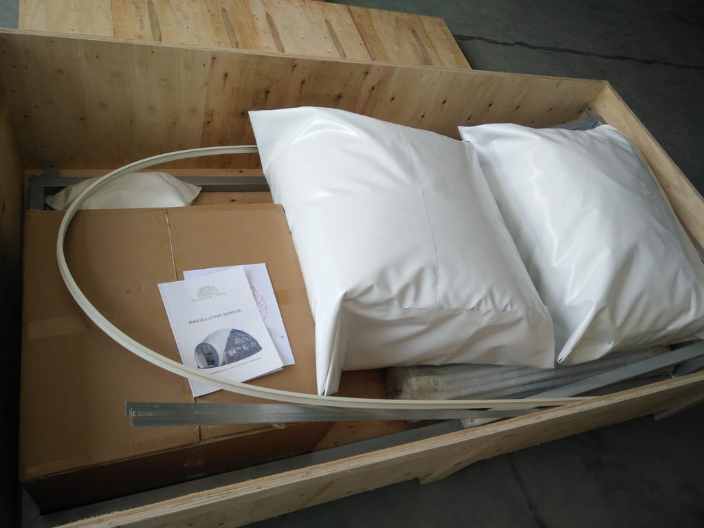 geodesic dome kit packed