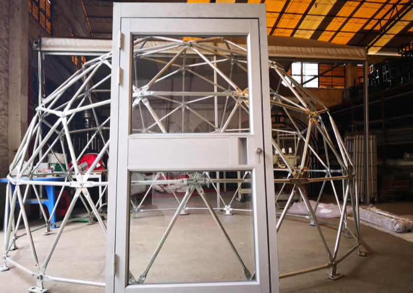 Aluminum Glass door with frame - Glamping Dome Store