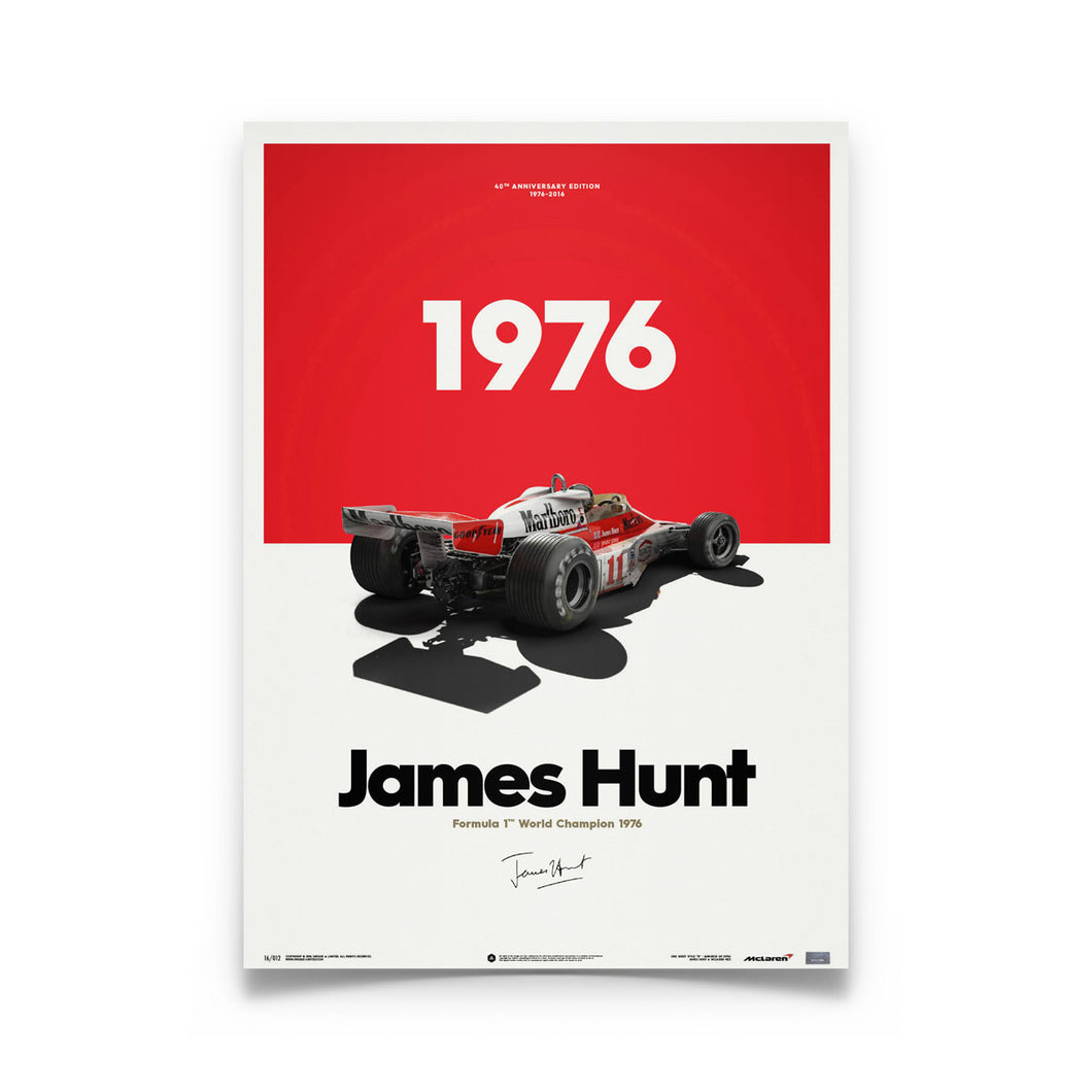 McLaren M23 - James Hunt - Marlboro - Japanese GP - 1976 | Limited Poster