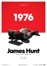 Load image into Gallery viewer, McLaren M23 - James Hunt - Marlboro - Japanese GP - 1976 | Limited Poster