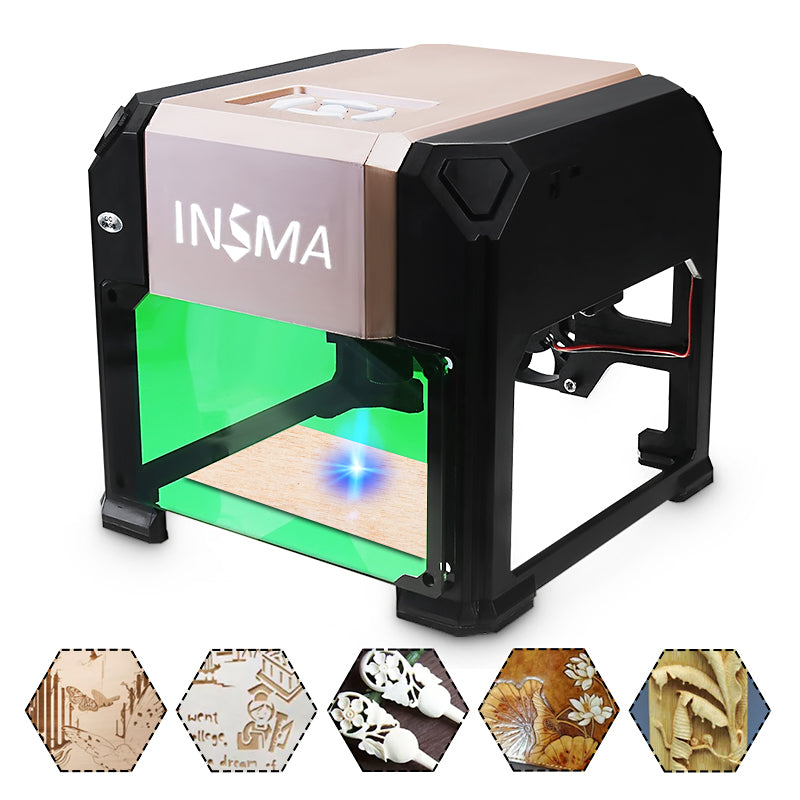 3000mw Laser Engraving Machine Mini Laser Engraver Printer