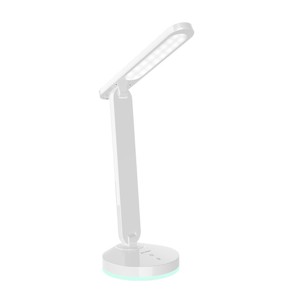 Folding Desk Lamp with Automatic RGB Light Base (White) - SHIPS FROM USA