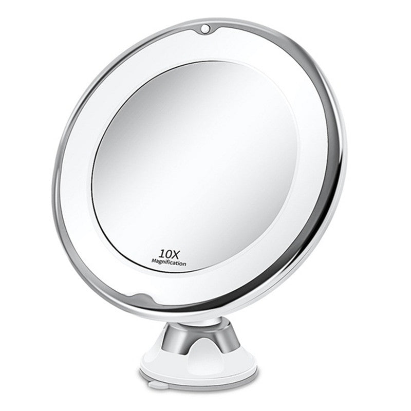 10X Lighted Makeup Magnifying  Cosmetic Face Mirror With Lights