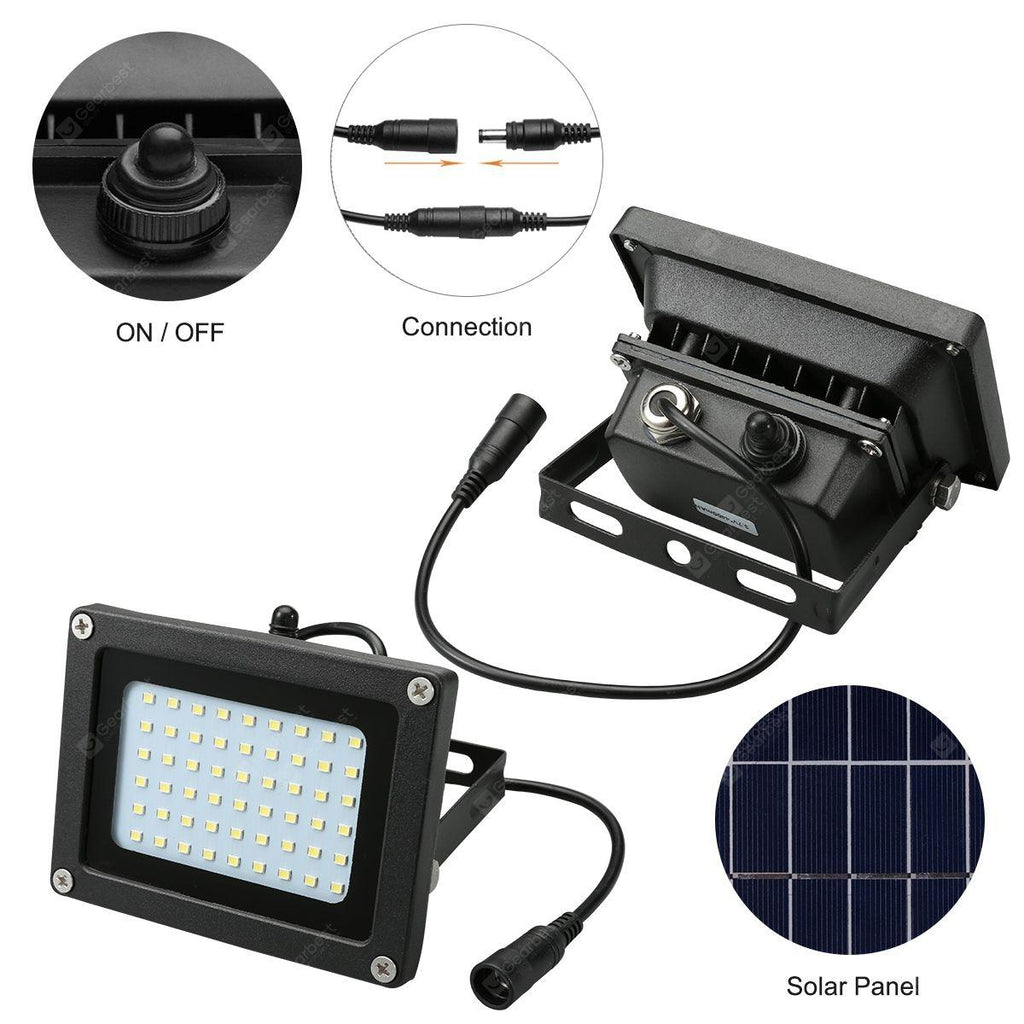 Excelvan 54 led solar flood light