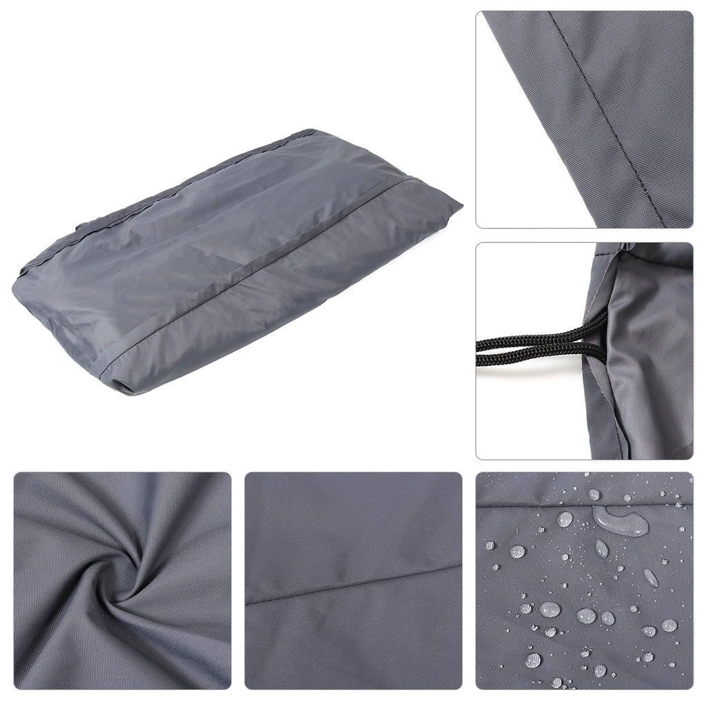 200x200x25cm Hot Tub Spa Cover Cap Guard Waterproof Silver Jacket Bag Protector