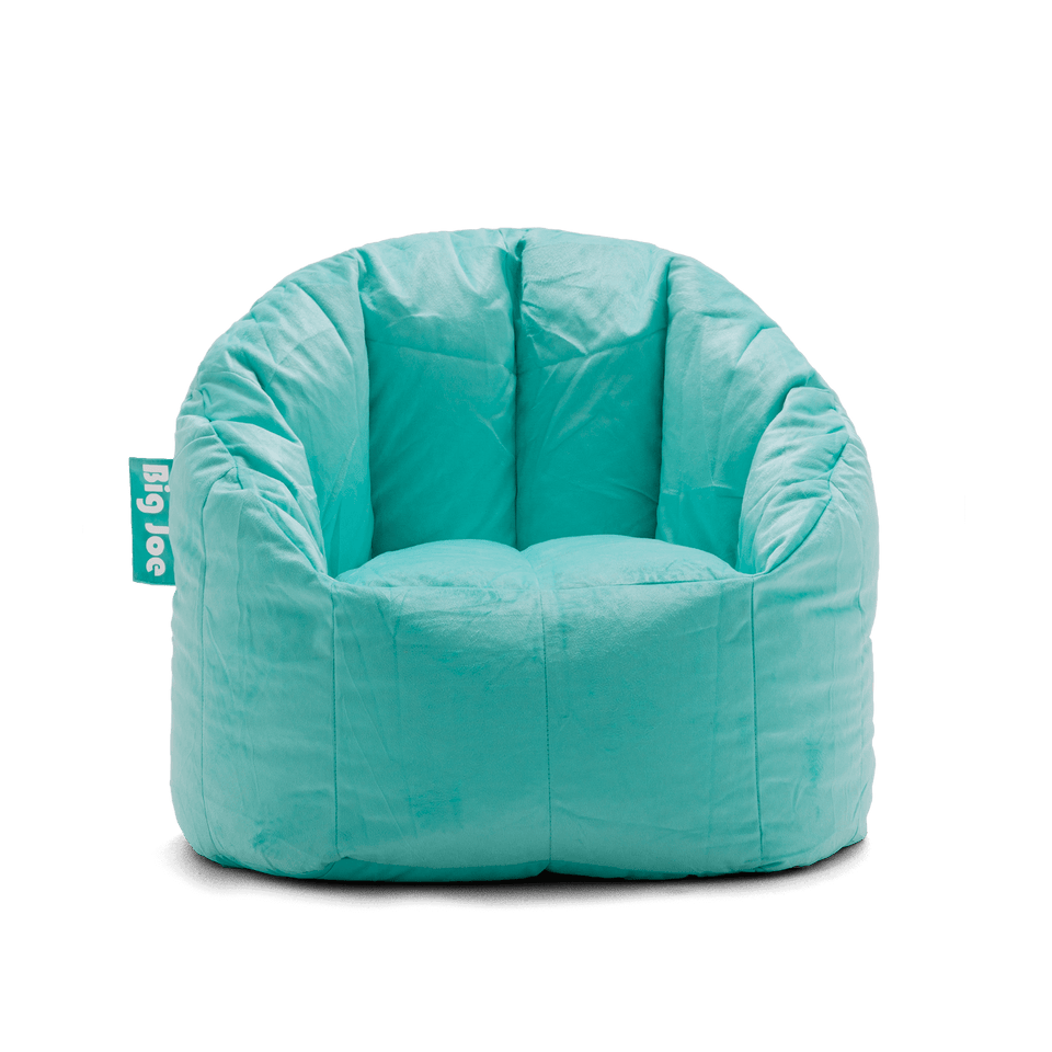 Mint Plush Milano Bean Bag Chair Front View 0638545