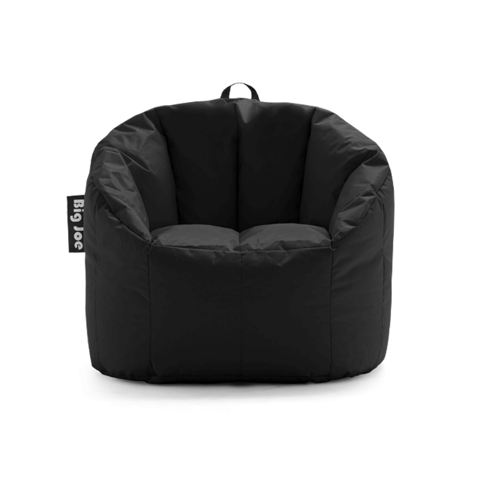 Stretch Limo Black Milano Bean Bag Chair Front View 0638602