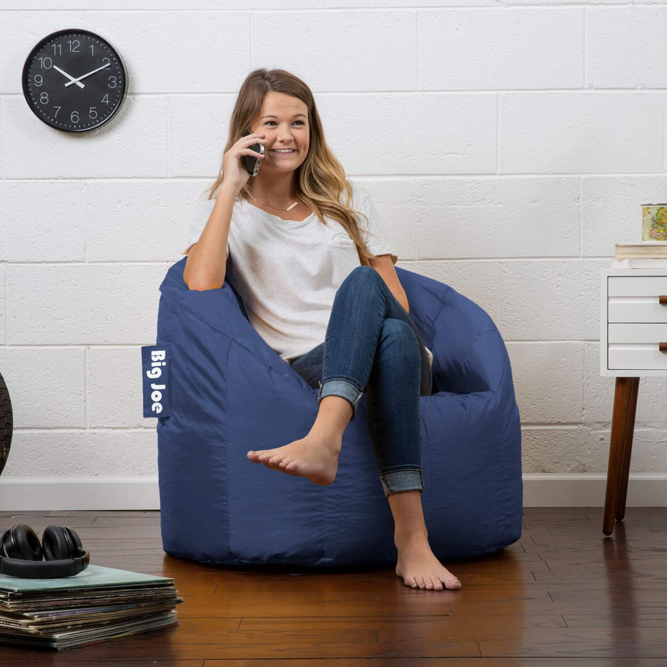 Navy Milano Bean Bag Chair with Model 0638608