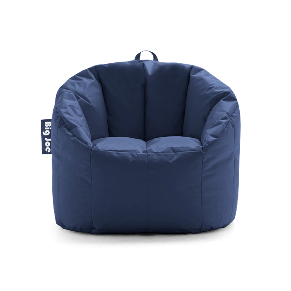 Navy Milano Bean Bag Chair Front View 0638608