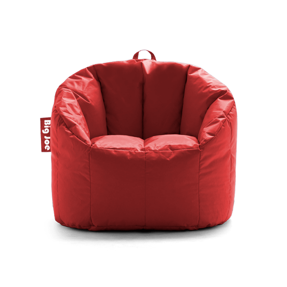 Fire Engine Red Milano Bean Bag Chair Front View 0638615