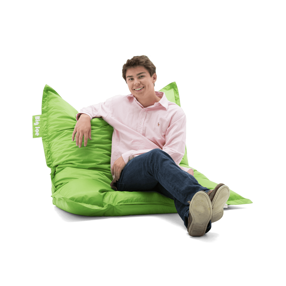 Spicy Lime Original Bean Bag with Model Sitting 0640185