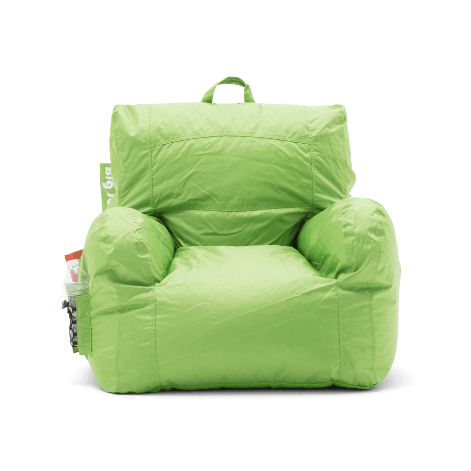 Spicy Lime Dorm Chair Bean Bag Front View 0645185
