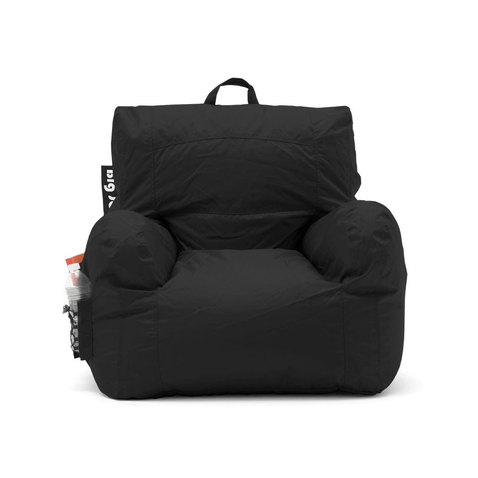Stretch Limo Black Dorm Chair Bean Bag Front View 0645602