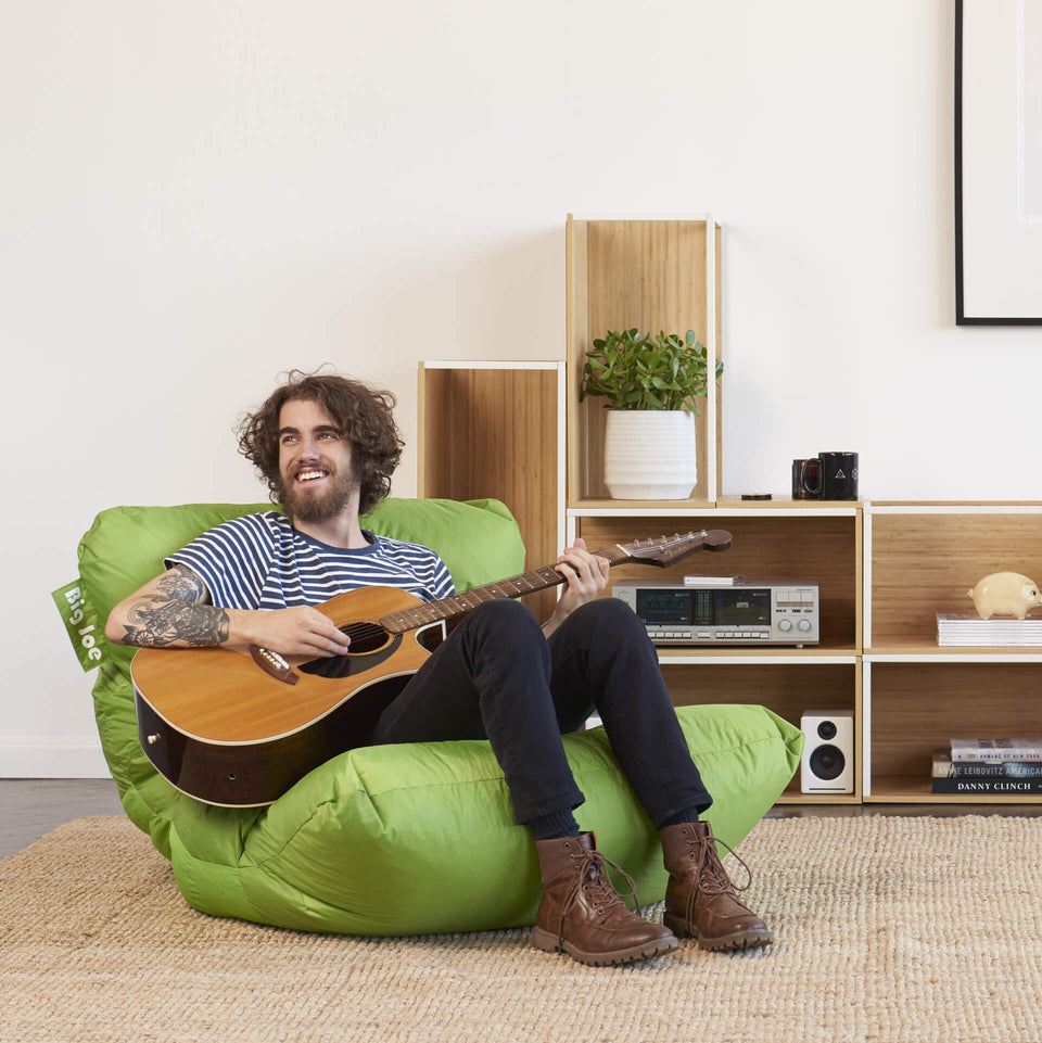 Spicy Lime Roma Bean Bag Chair Model Playing Guitar 0657185