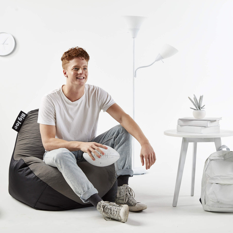Grey Warp Bean Bag Chair with Model 1180285