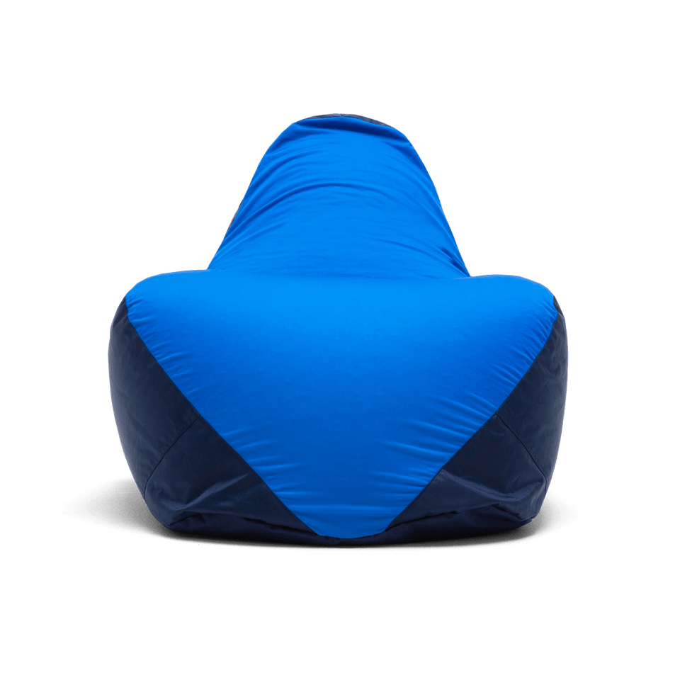 Blue Warp Bean Bag Chair Front View 1180286