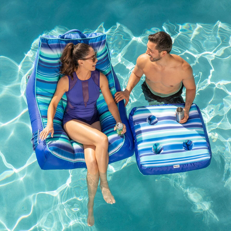 Blurred Blue Captains Caddie Pool Accessory with Model 2186820