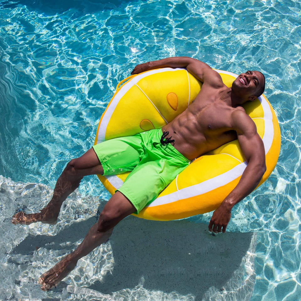 Lemon Fruit Slice Pool Float with Model 2197LEM