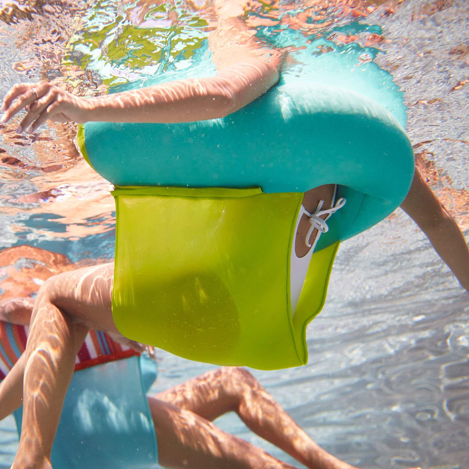 Aqua Green Noodle Sling Pool Float Underwater View 2045853