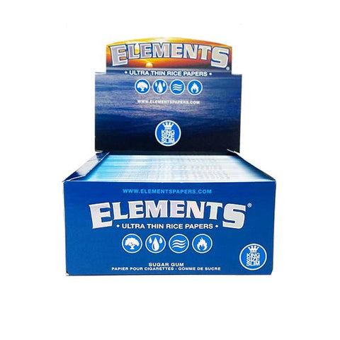 50 Elements King Size Slim Ultra Thin Papers - vapingos