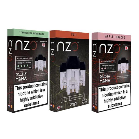 NZO 10mg Salt Cartridges with Pacha Mama Nic Salt (50VG/50PG) - vapingos