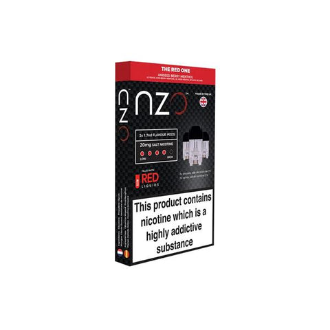 NZO 10mg Salt Cartridges with Red Liquids Nic Salt (50VG/50PG) - vapingos