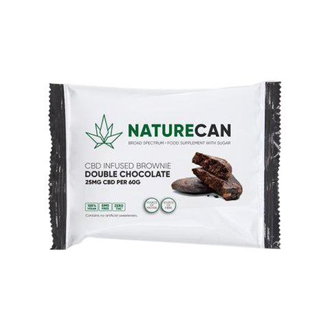 Naturecan 25mg CBD Double Chocolate Brownie 60g - vapingos
