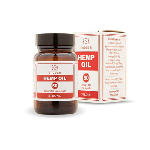 Endoca 1500mg CBD Capsules Hemp Oil - 30 Caps - vapingos